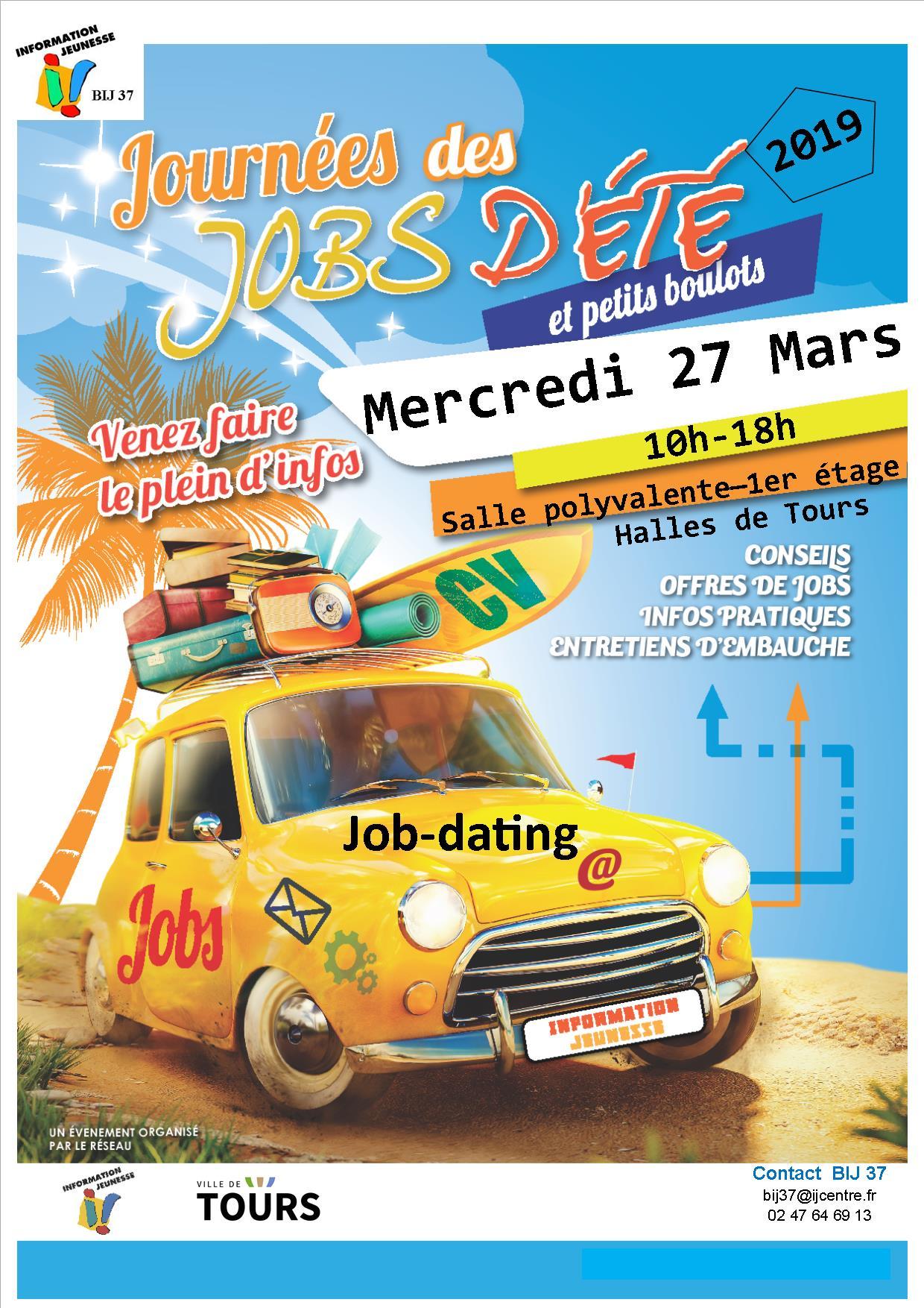 Tous les ans le BIJ organise un journée Job dating. Pour vous aider à trouver un emploi d'été.